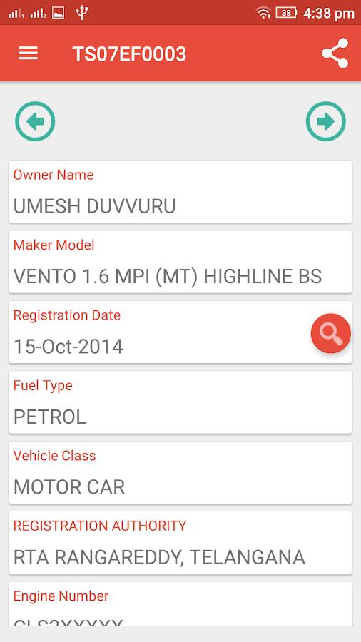 Check Vehicle Registration Owner RTO Details 11 APK Download