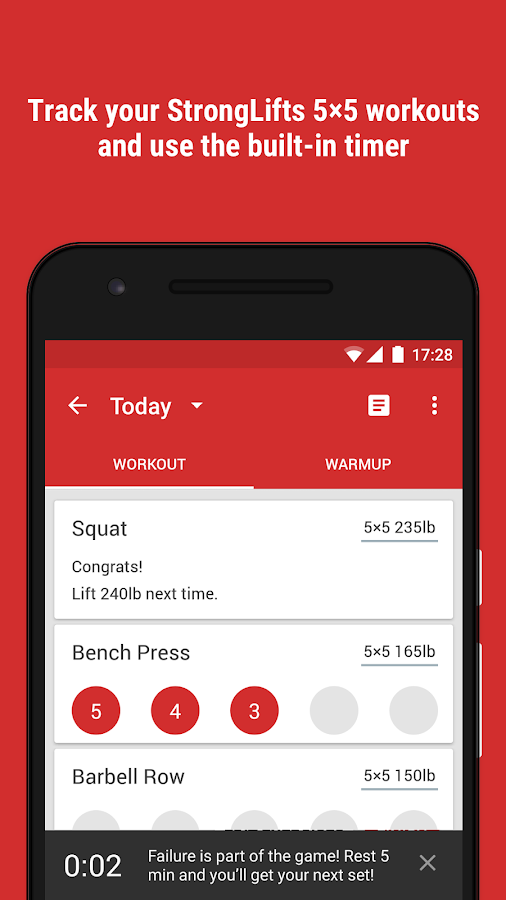 StrongLifts 5x5 Workout 2.4.4 APK Download - Android Health & Fitness Apps
