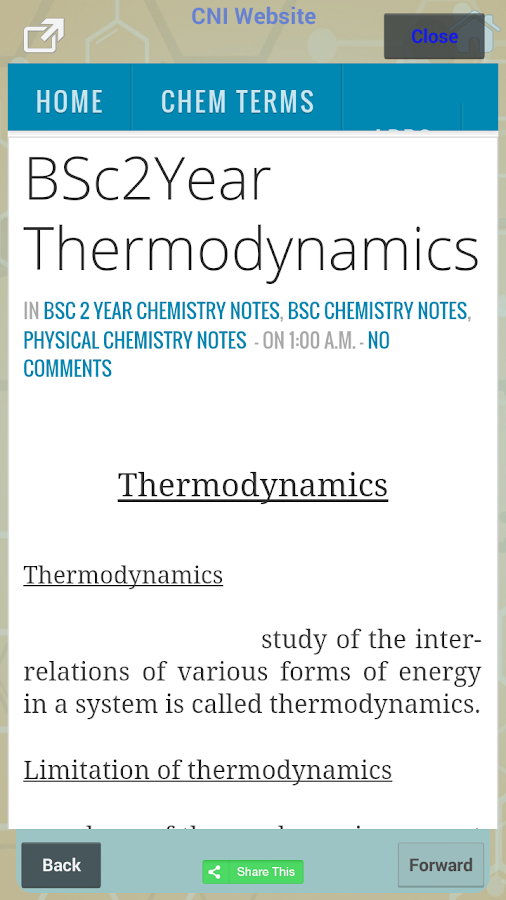 Chemistry Notes Apps
