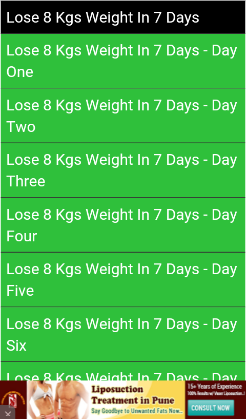 Diet Plan Weight Loss 7 Days 110 Apk Download Android Health