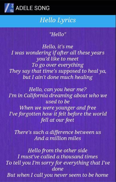 Adele hello скачать песню