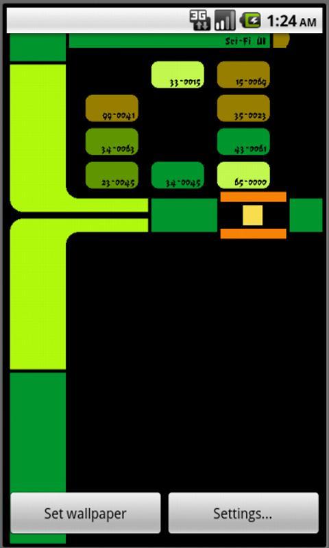 Sci Fi UI Live Wallpaper Lite 14 Screenshot 5