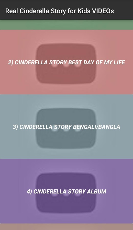 Real Cinderella Story for Kids VIDEOs App 1.0 APK Download - Android ...