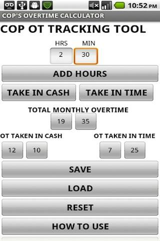 CopS Overtime Calculator  Apk Download  Android Tools Apps