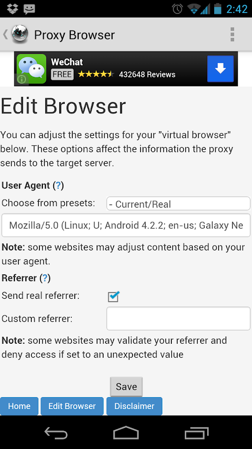Proxy Browser For Android 2 4 4 APK Download - Android Communication