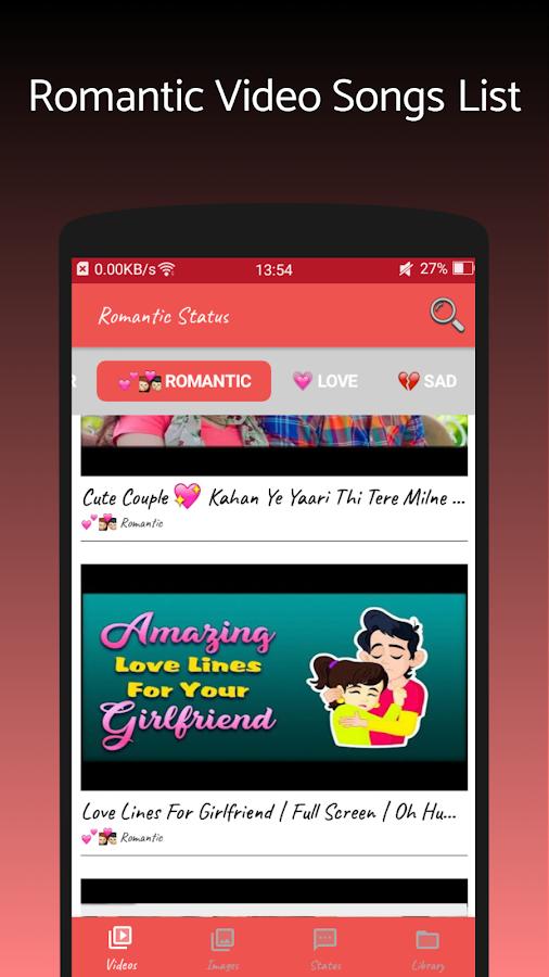 Romantic Video Status For Whatsapp 20 Apk Download