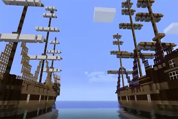 minecraft battle ships map