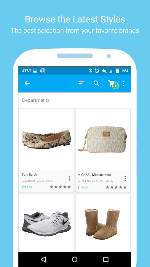 ... Zappos – Shoe shopping made simple 8.0.2 screenshot 2 ...