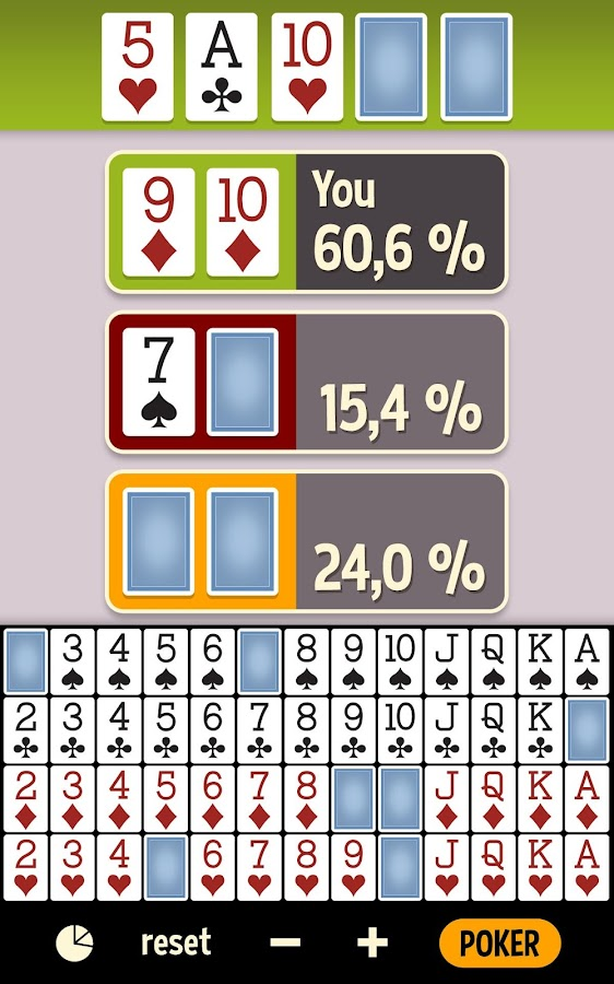poker hand odds calculator online