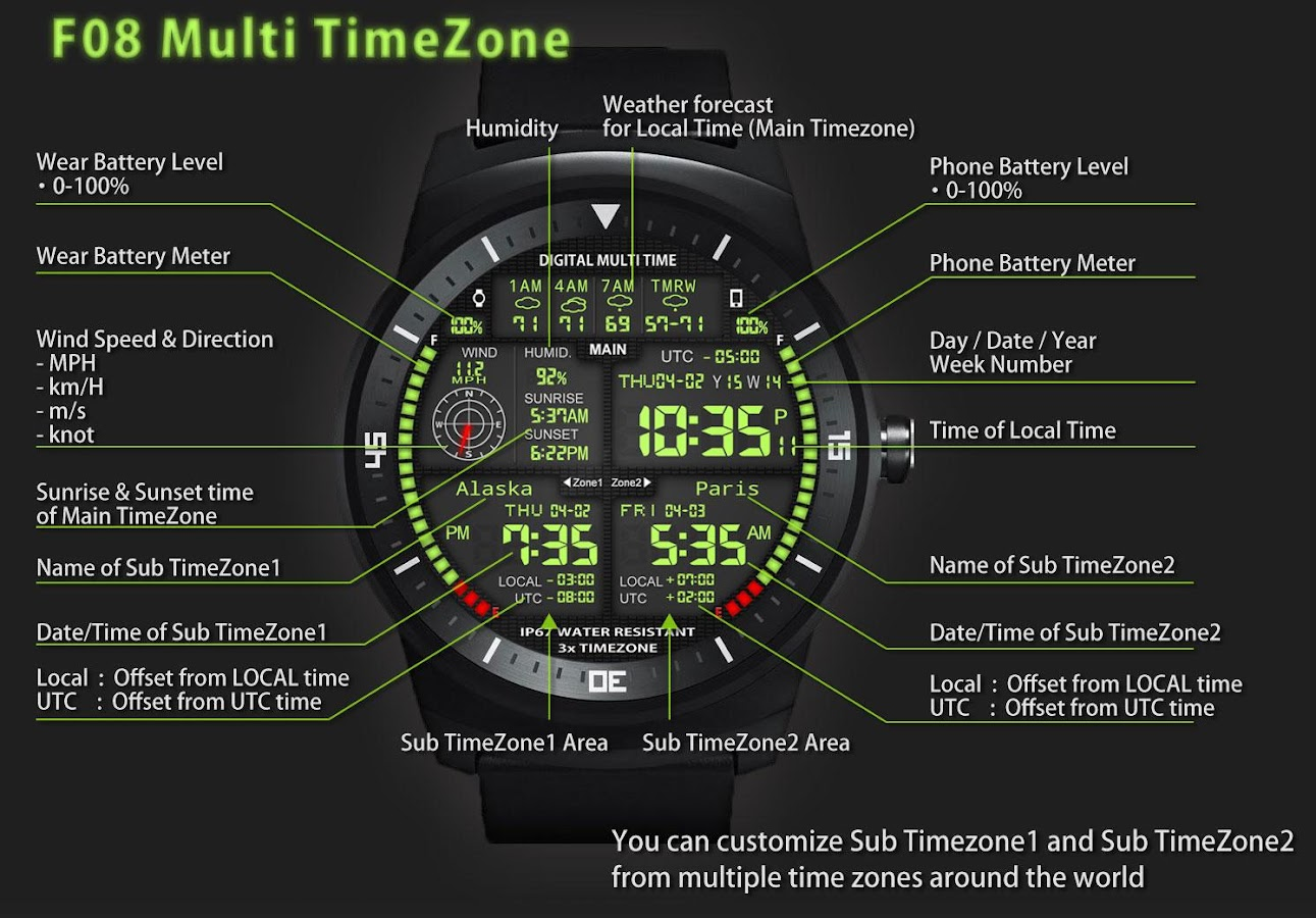 3 X World Clock Face For Android Wear Smart Watch 701 Apk Download Circuit Board V 10 G Facerepo Screenshot 1
