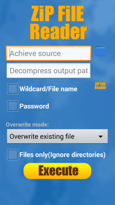 zip file reader for android apk