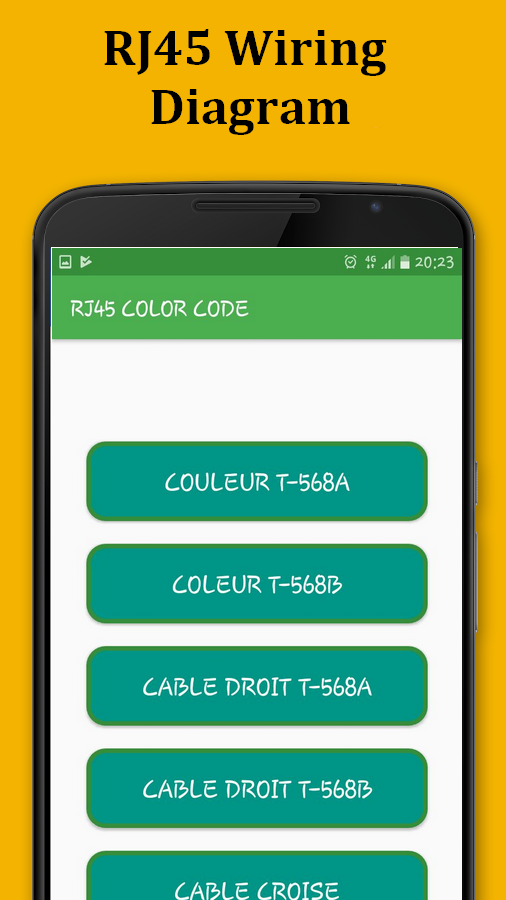 RJ45 Color Code Cable Wiring 1.0 APK Download - Android Education Apps