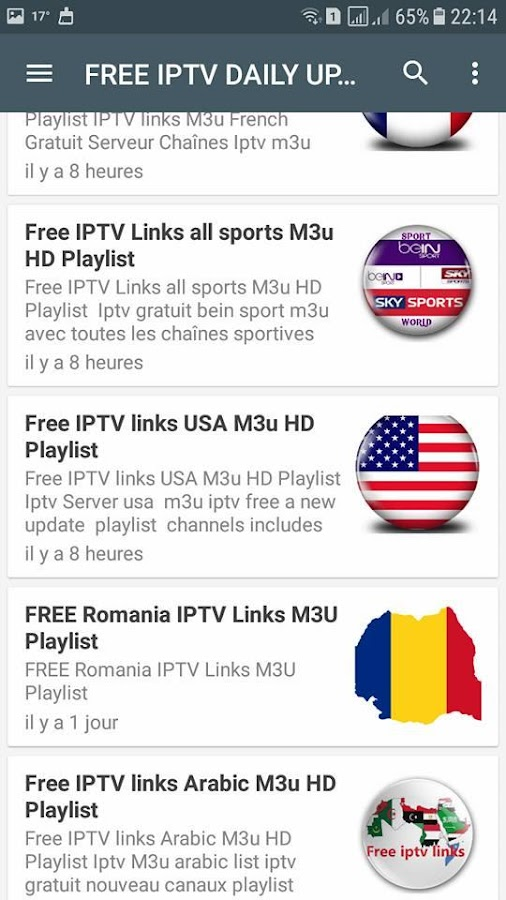 FREE IPTV DAILY UPDATES 1 0 APK Download - Android Entertainment Apps