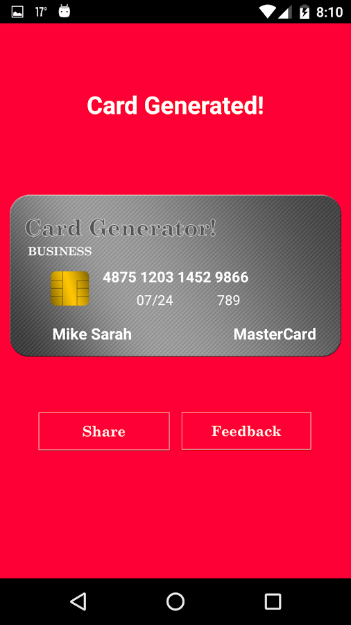 fake credit card generator 1 2 apk download android entertainment