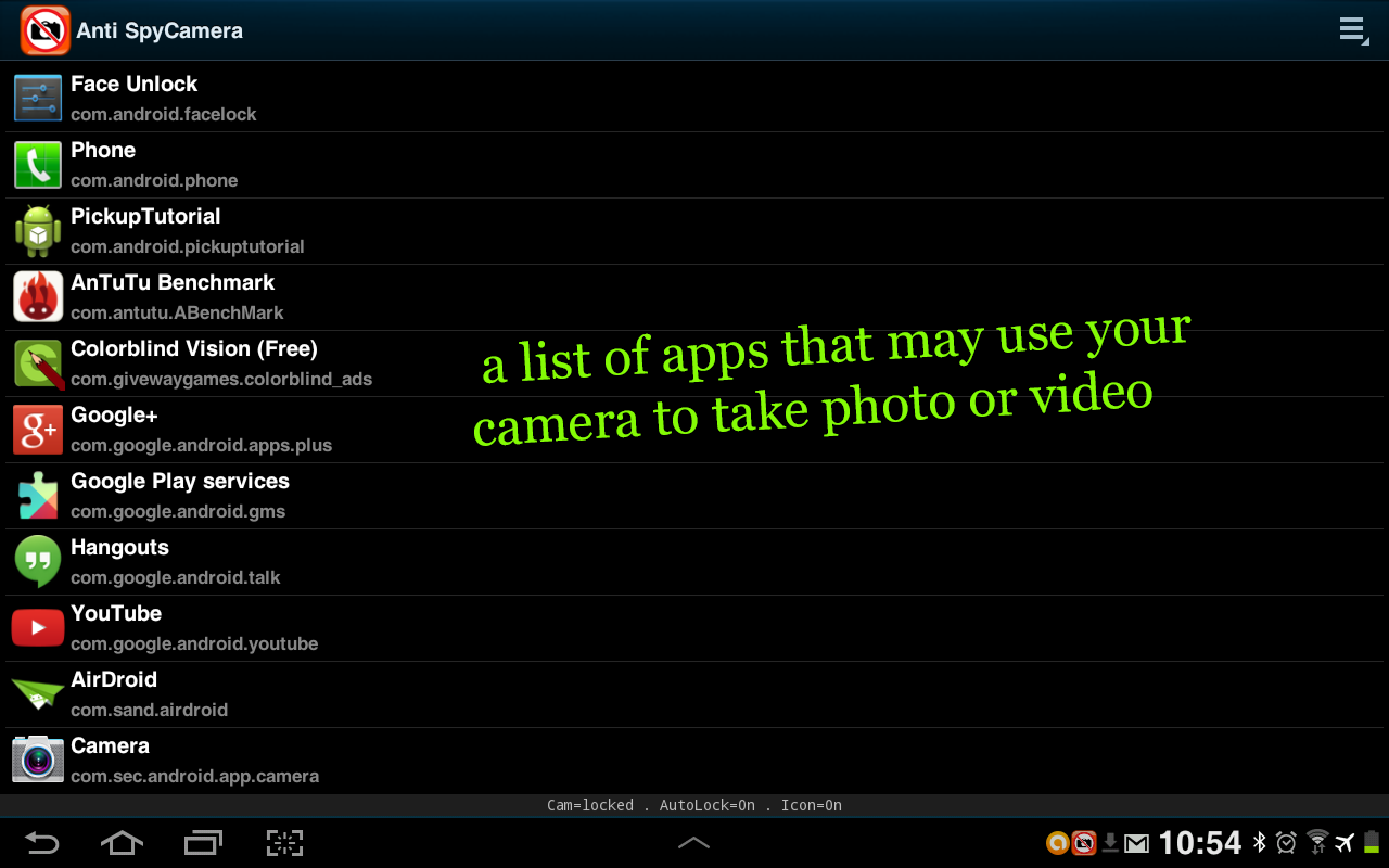 FREE Anti Spy Camera Lock 1 4 7 APK Download - Android Tools Apps