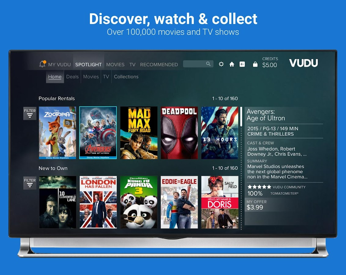Vudu android app download | Vudu Android Tablet Download