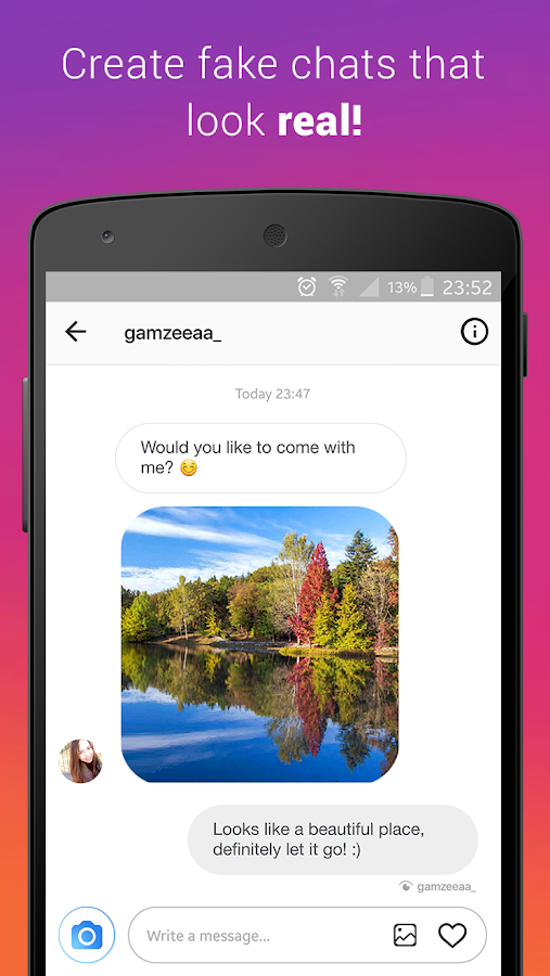 Fake Chat (Direct Message) 1 4 2 APK Download - Android