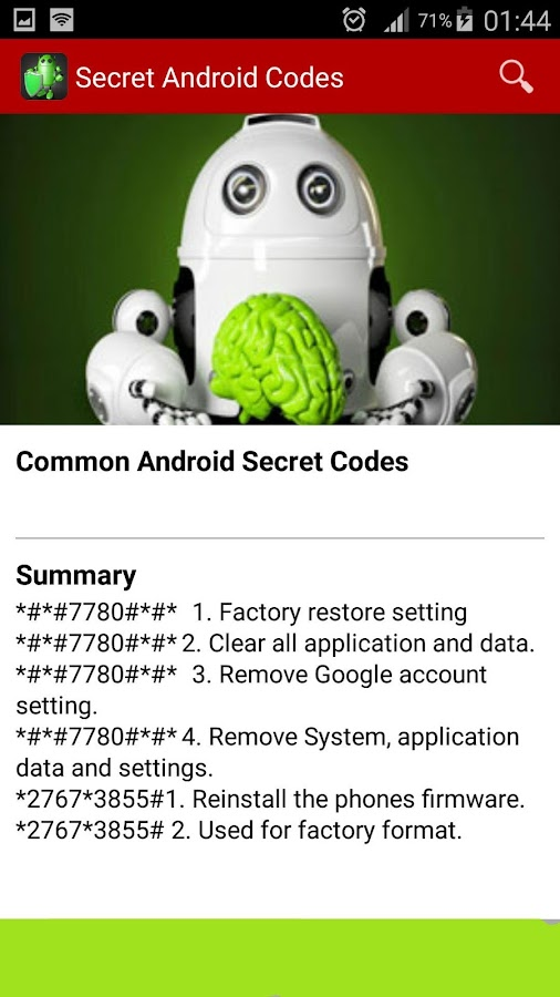 Secret Android Codes 2 5 APK Download - Android Tools Apps
