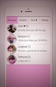 BTS Messenger New 1.1 screenshot 1