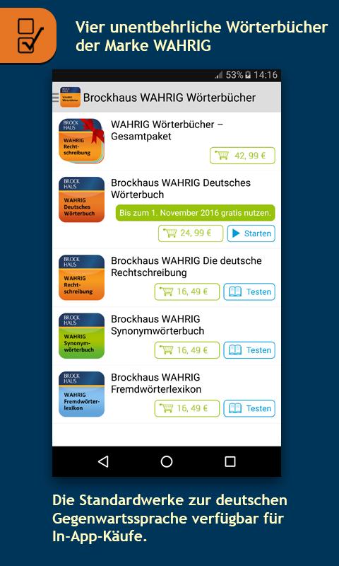 Brockhaus WAHRIG Wörterbücher 5.4.138.600 APK Download - Android ...