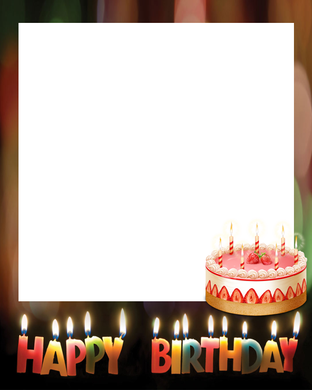 Polaroid Happy Birthday Frame