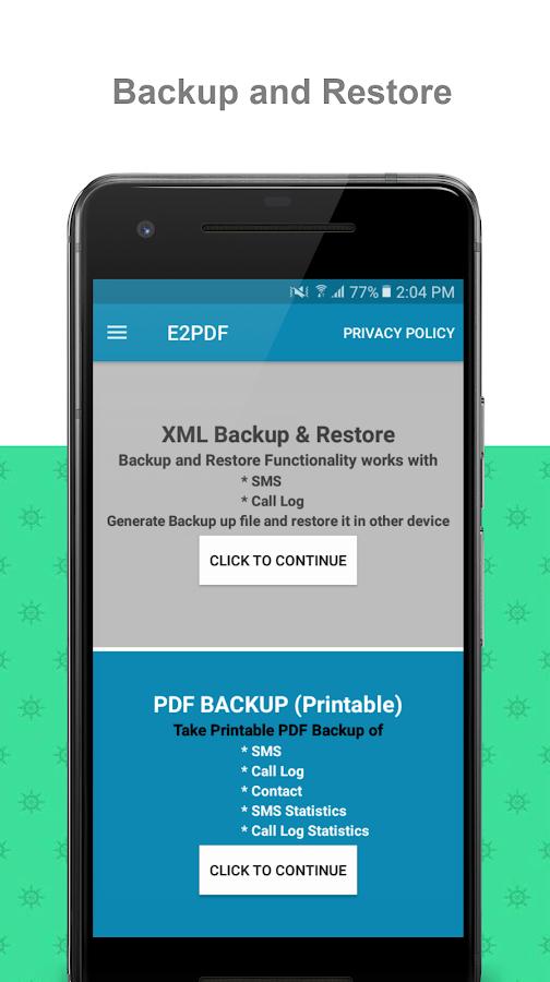 E2PDF - Backup Restore SMS,Call,Contact,TrueCaller 15 04