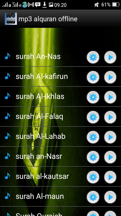 Mp3 Alquran Offline 1 0 Apk Download Android Music Audio Apps