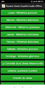 Rosario Santo Español Audio Offline Pro 1.0 screenshot 1