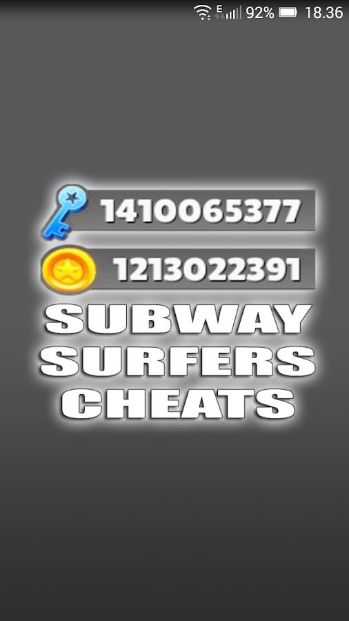 subway surf download cheats
