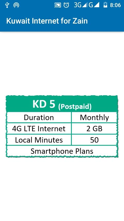 Kuwait Internet Package for Zain 18 7 31 APK Download - Android