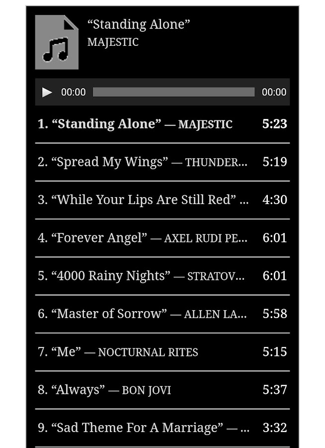 The Best Metal Ballads Music 1 0 Apk Download Android Music