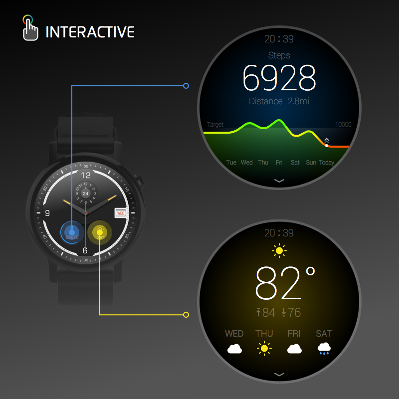 Watch Face -Ticker-Interactive 2 1 1 APK Download - Android