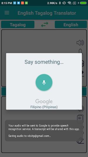 English Tagalog Translator 1 6 APK Download - Android