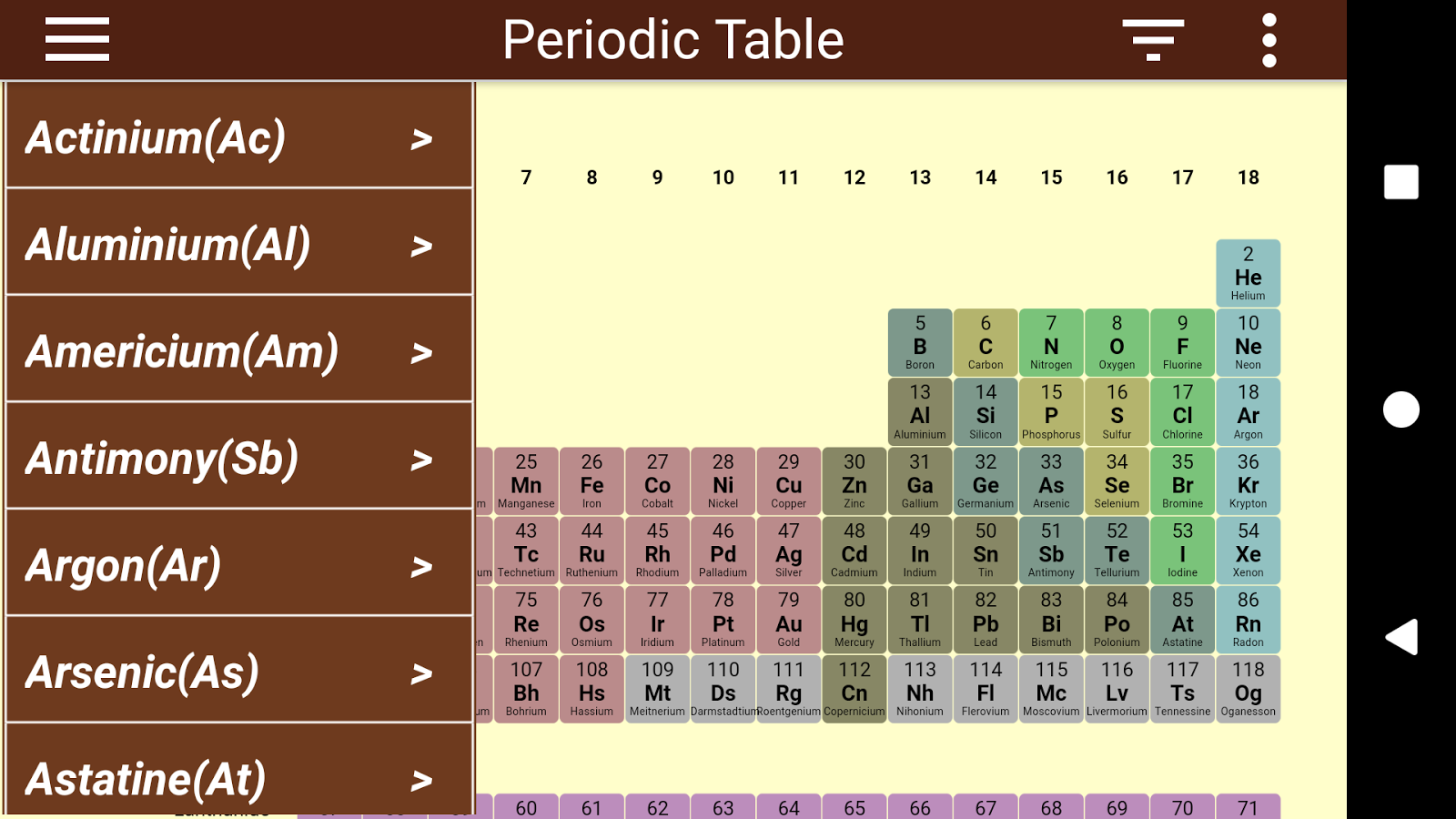 Periodic table 103 apk download android education apps periodic table 103 screenshot 3 urtaz Choice Image
