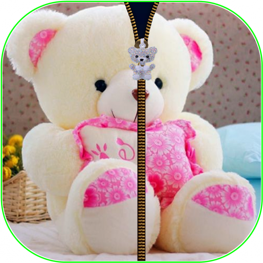 Teddybearcute Zipperscreenlock 1 0 Apk Download Android