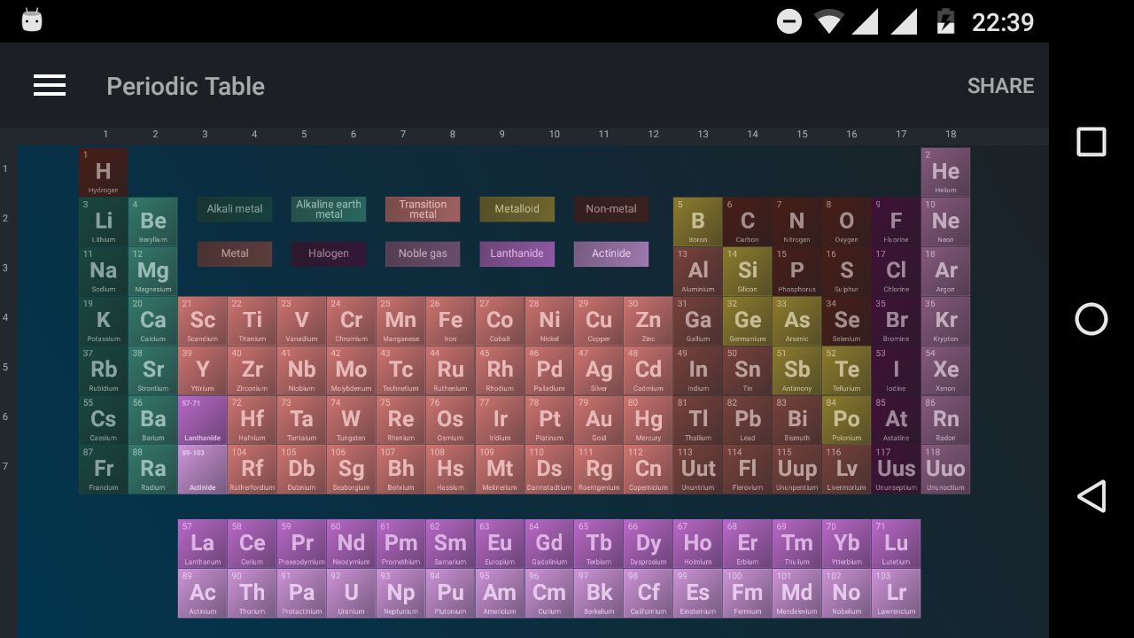 Periodic table free 102 apk download android education apps periodic table free 102 screenshot 1 urtaz Image collections