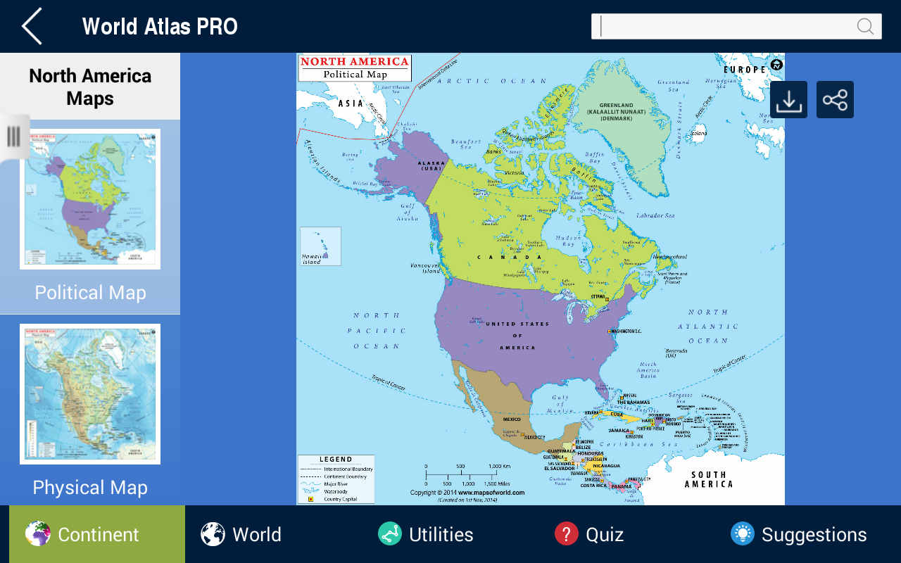 World atlas pro 79 apk download android education apps world atlas pro 79 screenshot 3 gumiabroncs Images