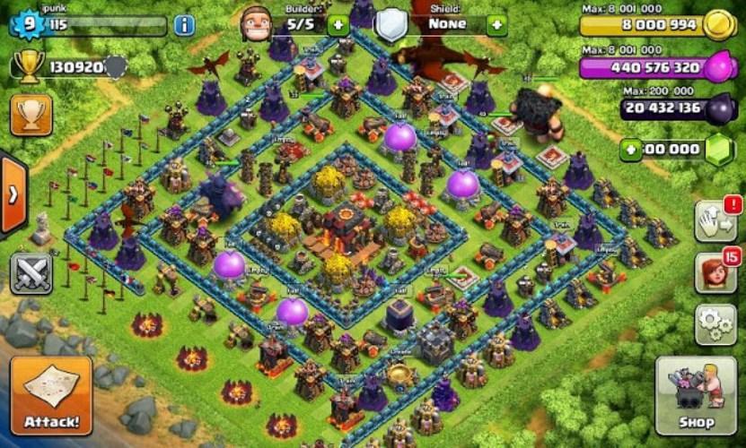 fhx apk download clash of clans