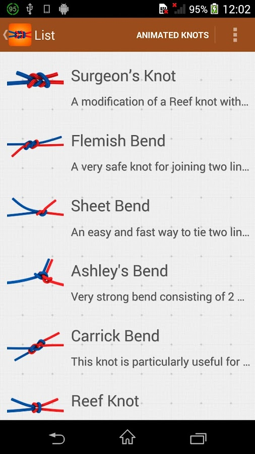 How to tie knots 3d pro 102 apk download android books how to tie knots 3d pro 102 screenshot 14 ccuart Image collections