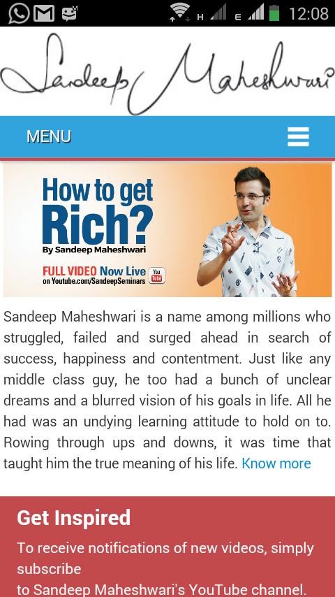 Sandeep Maheshwari 1 8 Apk Download Android Social Apps
