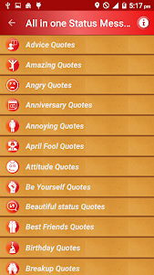 All Status Messages & Quotes 3.1 screenshot 1