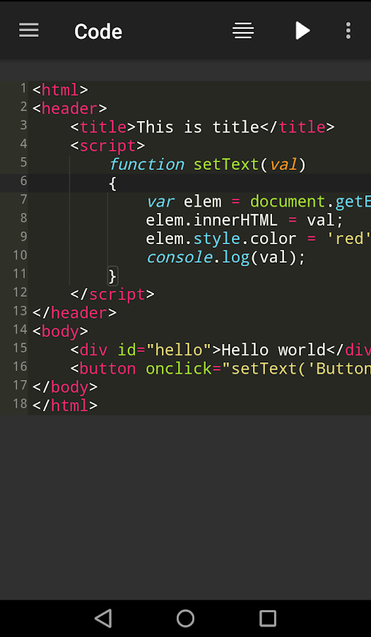 Web Shell (HTML, CSS, JS IDE) 1 1 11 APK Download - Android Tools Apps