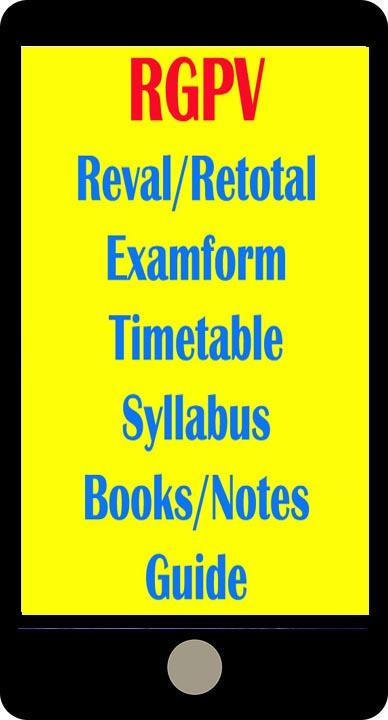 Reval/Revaluation Result RGPV 1 0 APK Download - Android Education