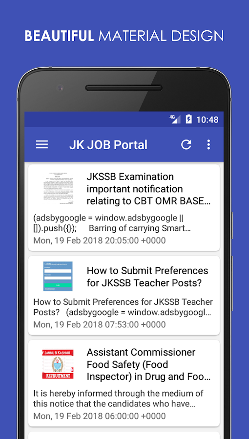 JK JOB Portal 2 0 APK Download - Android Education Apps