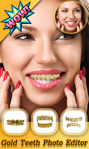 Gold Teeth Photo Editor 1.0 screenshot 1