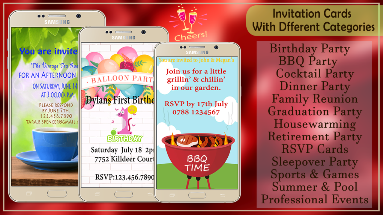 Exelent party invitation maker adornment invitations and party invitation card maker 10024 apk download android social apps stopboris Images