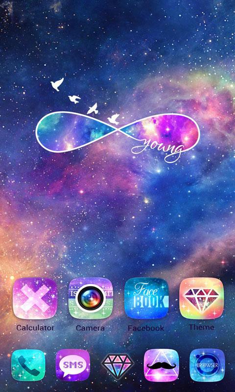 Shining Star GO Launcher Theme V10 Screenshot 4