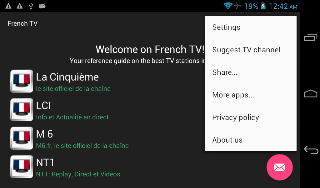 French TV 2 1 1 APK Download - Android Entertainment Apps