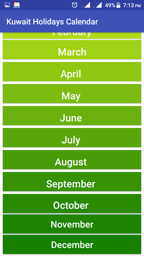 Kuwait Holidays Calendar 18 8 9 APK Download - Android