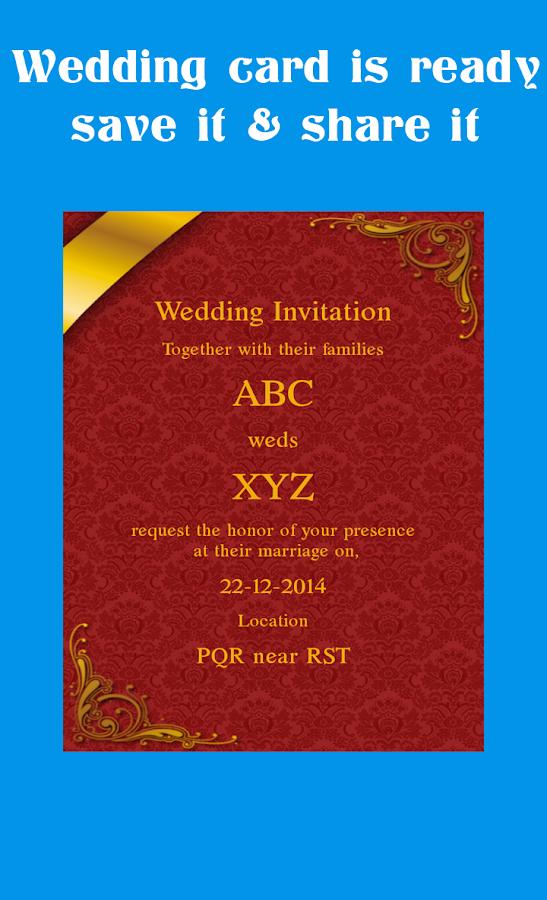 Wedding card maker 512 apk download android lifestyle apps wedding card maker 512 screenshot 13 stopboris Images
